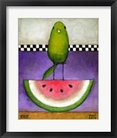 Framed Watermelon Bird