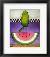 Framed Watermelon Bird
