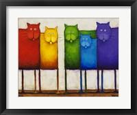 Framed Rainbow Cats