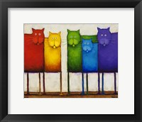 Framed Rainbow Cats