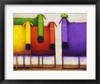 Framed Rainbow Dogs II