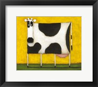 Framed Yellow Cow
