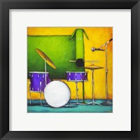 Framed Drum Dog