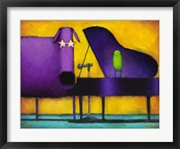 Framed Piano Glam Dog