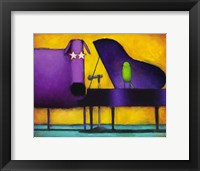 Framed Piano Glam Dog