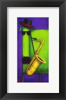 Framed Sax Dog
