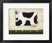 Framed White Cow