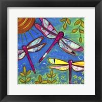 Framed Dragonflies Feast
