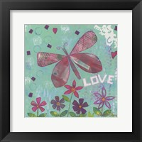 Framed Love Butterfly