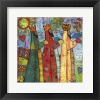 Framed Three Kings Love Faith Hope