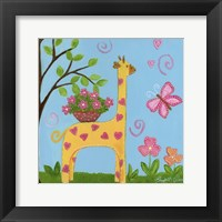 Framed Girlie Giraffe
