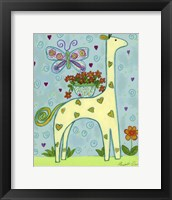 Framed Butterfly Giraffe