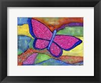 Framed Fly High Butterfly