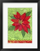 Framed Poinsettia Collage Flag