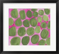 Framed Pebbles Green