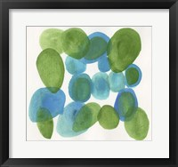 Framed Pebbles Blue
