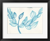 Framed Blooming - blue