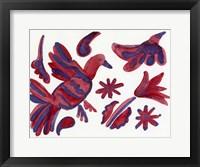 Framed Pajaro Morado - Purple Bird