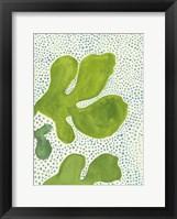 Framed Green Leaf with Dots 2