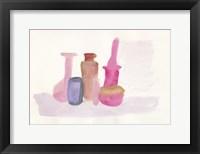 Framed Pink Bottles