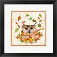 Framed Fall Owl