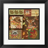 Framed Fall Critters Collage