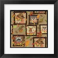 Framed Fall Critters Collage 2