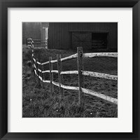 Framed Barn Fence