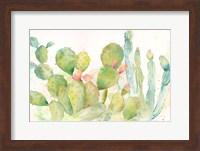 Framed Cactus Garden Landscape