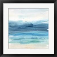 Framed Indigo Seascape I