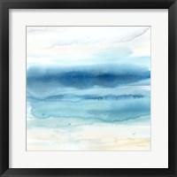 Framed Indigo Seascape II
