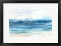 Framed Indigo Seascape Landscape