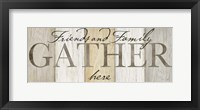 Framed Family Gather Neutral Sign