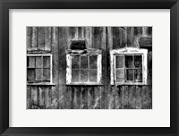Framed Old Barn Window
