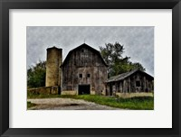 Framed Old Barn and Silo