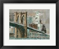 Framed Brooklyn Bridge Cityscape