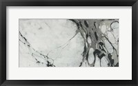 Framed Black and White Marble Panel Trio I