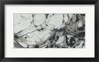 Framed Black and White Marble Panel Trio II