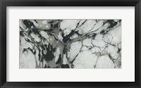 Framed Black and White Marble Panel Trio III