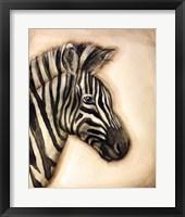 Framed Zebra Portrait