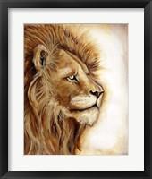 Framed Lion Portrait