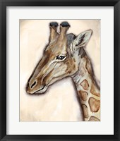 Framed Giraffe Portrait