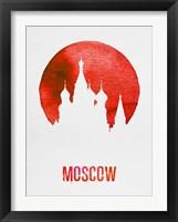 Framed Moscow Landmark Red
