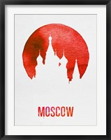 Framed Moscow Landmark Red