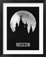 Framed Moscow Landmark Black