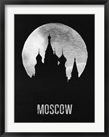 Framed Moscow Landmark Black