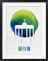 Framed Berlin Landmark Blue