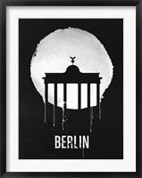 Framed Berlin Landmark Black