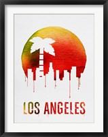 Framed Los Angeles Landmark Red