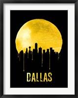 Framed Dallas Skyline Yellow